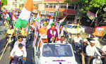 BJP takes out Tiranga Yatra