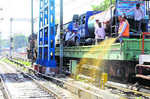 Mosquito terminator train flagged off