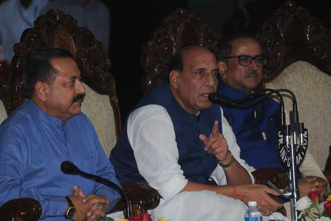 Kashmir situation better but truce violations alarming, says Rajnath