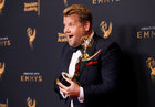 Host James Corden holds an Emmy Award for Outstanding Variety Special for 'Carpool Karaoke' backstage at the Creative Arts Emmy Awards in Los Angeles. September 9. Reuters