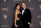 Dancer Derek Hough (L) and girlfriend Hayley Erbert (L) pose at the Creative Arts Emmy Awards in Los Angeles, California September 9. Reuters