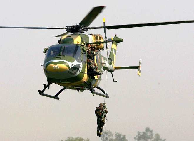 Following mishap, Army suspends 'slither down' operations from Dhruv