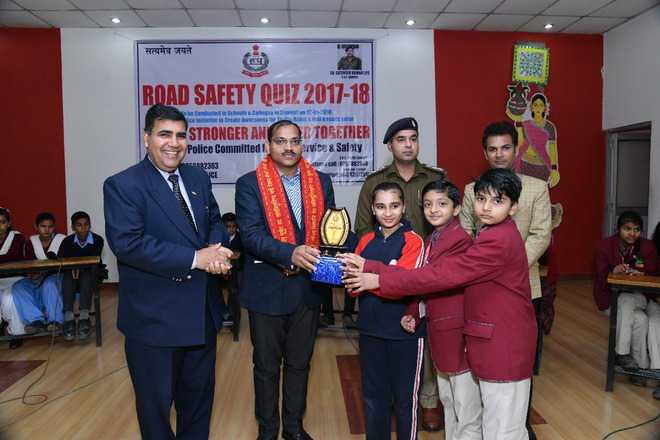 Road safety quiz winners awarded