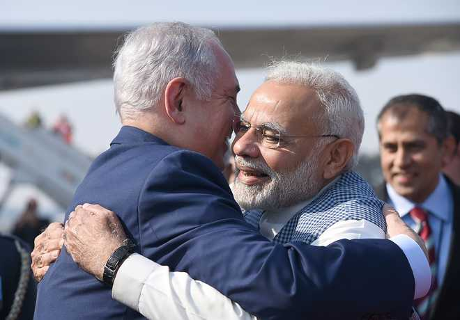 Netanyahu arrives on 'historic' India visit; Modi receives him at airport