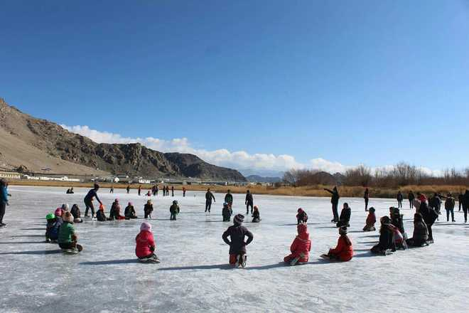 As winter peaks, ice hockey gets a boost in Ladakh