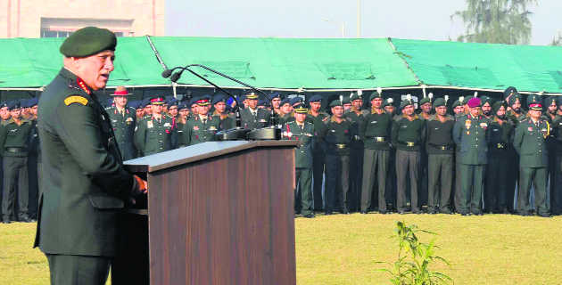 Chief of Army staff visits Jalandhar Cantonment