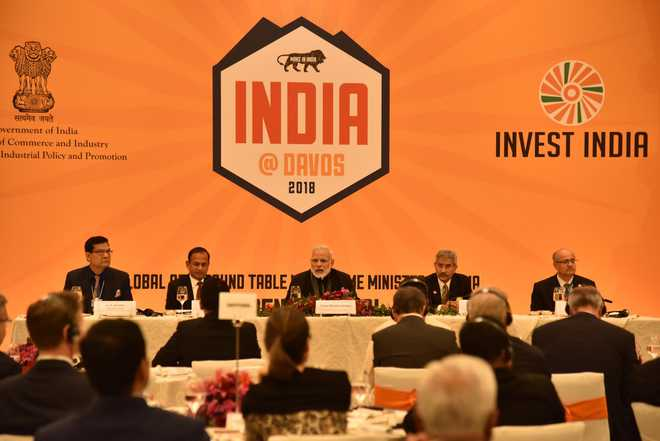 India means business, PM Modi tells global CEOs at Davos