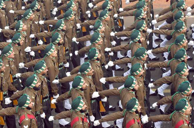 Punjab Regiment best marching contingent