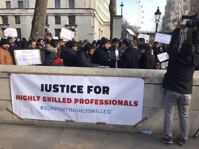 Highly skilled Indian professionals protest 39unfair39 visa