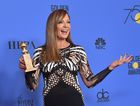 Actress Allison Janney poses with the trophy for Best Performance by an Actress in a Supporting Role in any Motion Picture during the 75th Golden Globe Awards on January 7, 2018, in Beverly Hills, California. AFP photo