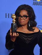 Actress and TV talk show host Oprah Winfrey poses with the Cecil B. DeMille Award during the 75th Golden Globe Awards on January 7, 2018, in Beverly Hills, California. / AFP photo