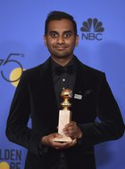 Aziz Ansari poses in the pressroom with the award for best performance by an actor in a television series-musical or comedy for 'Master of None' at the 75th annual Golden Globe Awards at the Beverly Hilton Hotel on January 7, 2018, in Beverly Hills, California. AP/PTI photo