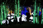 Giant lanterns are installed on January 8, 2018, at the Foucaud Park in Gaillac, southwestern France, on the occasion of the Lantern Festival. AFP photo
