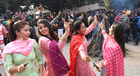 On the eve of Lohri festival, students celebrate at Panjab University, Chandigarh, on January 12. Tribune photo: Manoj Mahajan