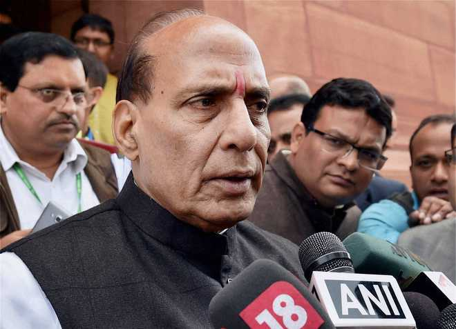 Army shall give proper reply to Pak: Rajnath on ceasefire violation