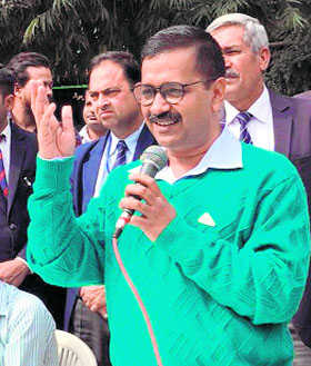 AAP holds 'Vikas Yatra' to mark three years in office