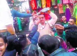 Wine distributed during Mahashivaratri procession