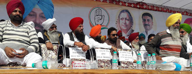 Congress rally brings forth tussle among leaders