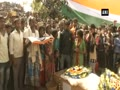 Last rites of BSF soldier SK Murmu performed