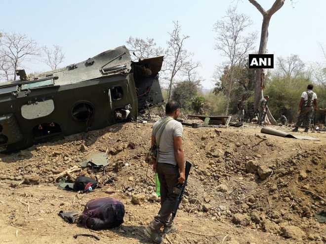 9 CRPF men killed in Naxal attack in Chhattisgarh