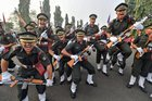 Cadets celebrate at their graduation ceremony at the Officers Training Academy (OTA) in Chennai on March 10, 2018. PTI photo