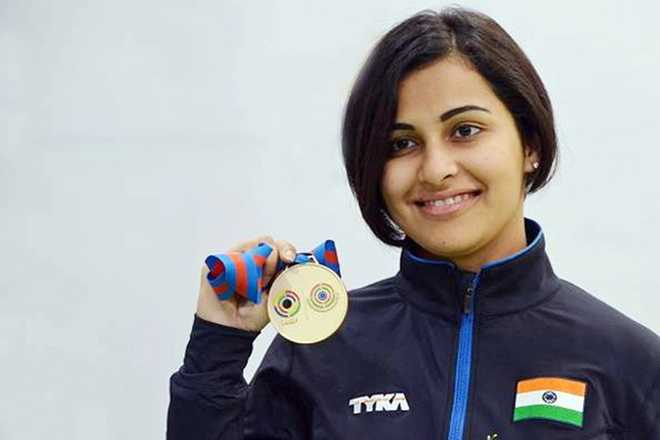 Image result for Sidhu adds third gold to India's shooting kitty in CWG