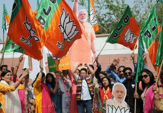BJP income rises by 81.18%, Congress's dips 14%
