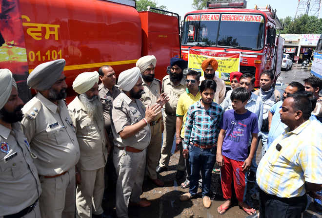 People made aware of fire safety measures