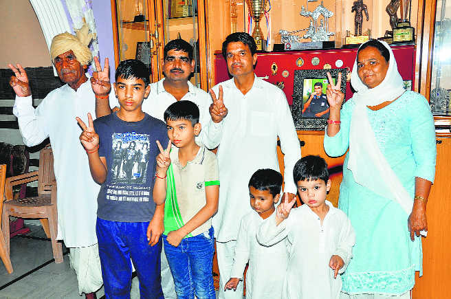 Vikas keeps promise made to grandfather