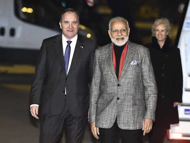 'Scripting history', PM Modi arrives in Sweden for Nordic summit