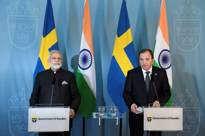 India, Sweden to strengthen defence and security cooperation