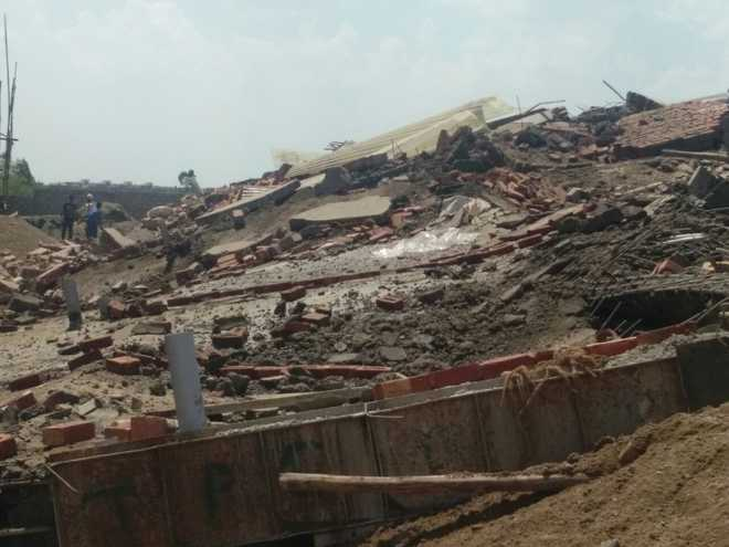 Owners booked in Zirakpur building collapse