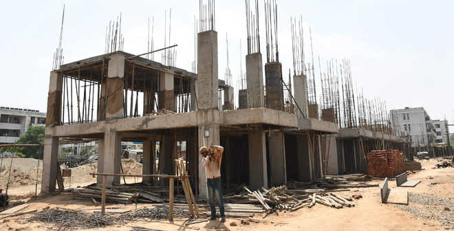 Work under way on Sector 51 CHB flats