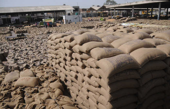 Slow lifting leads to glut-like situation at mandis in district