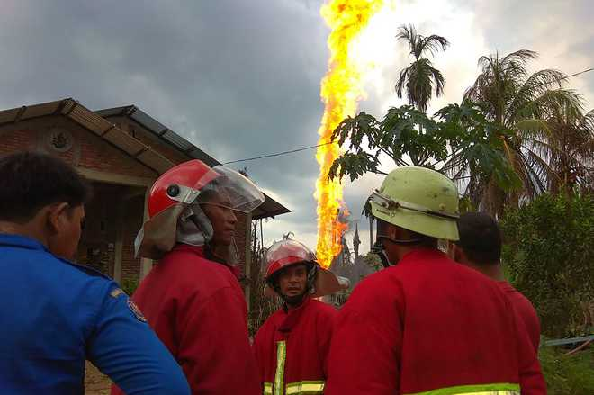 At least 15 dead, 40 injured in fire at oil well in Indonesia