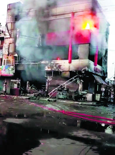 Fire breaks out at sweet shop