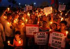People take part in a candle light vigil in protest against Kathua and Unnao rape cases, in Amritsar.PTI