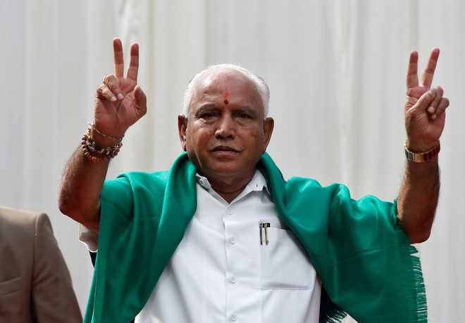 With court battle on, Yeddyurappa says 100 per cent confident of majority