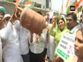 Mumbai Congress holds protest against fuel price hike