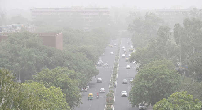 Dust blankets region; day temperature comes down