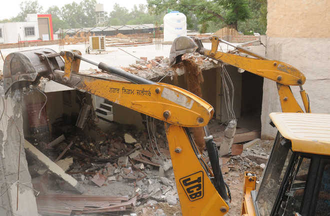 Demolition drive steamrolls amid protests by residents