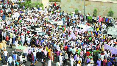'No permission sought for AAP's protest march to PM's residence'