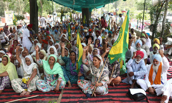 Farmers seek cancellation of cases, stage protest