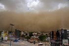 A dust storm approaches the city of Bikaner on June 9, 2018. PTI photo