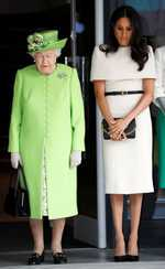 Meghan's day out, with the Queen