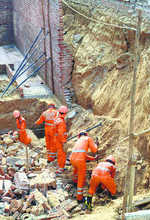 One died, five injured as wall collapses at GK2
