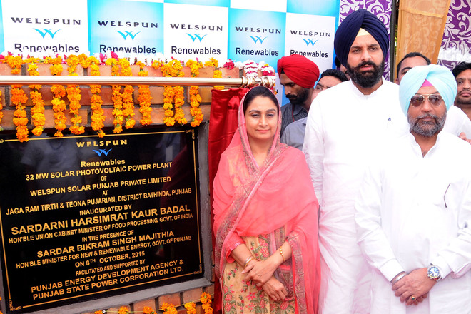Bathinda gets state's largest solar plant, to generate 33.5 MW