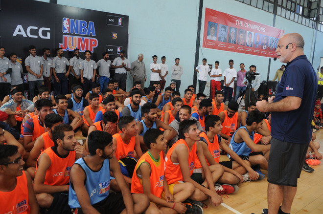 NBA comes hunting for talent in city
