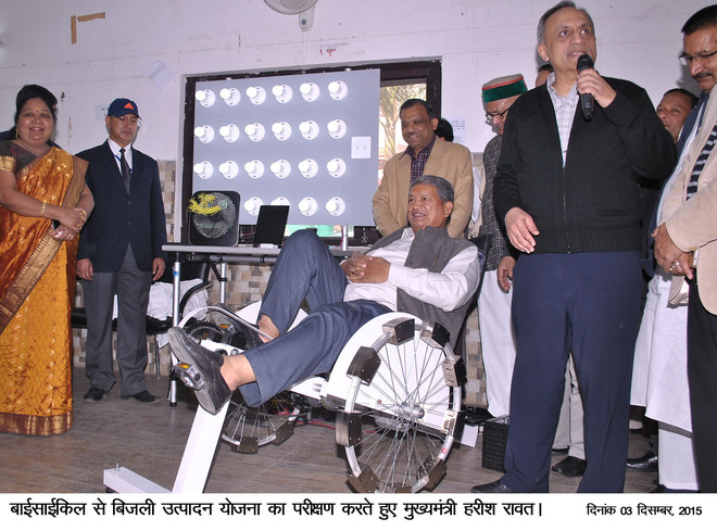 CM tests launch bicycle that produces power