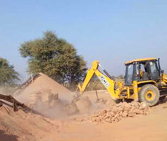Six mineral grinding units razed in two M'garh villages